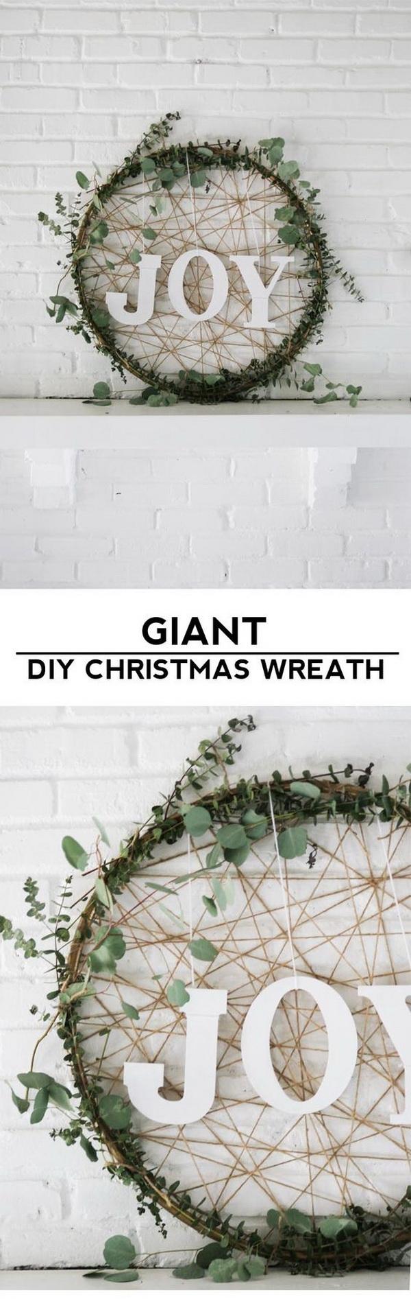Giant Christmas Wreath.
