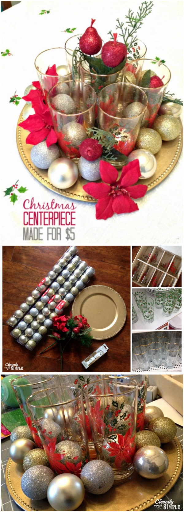 Meaningful Christmas Centerpiece. SUper easy DIY table centerpiece for Christmas made with dollar store finds!