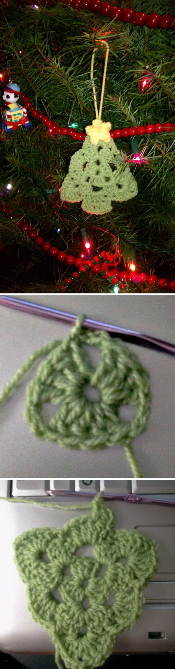 Crochet Christmas Tree Ornaments. Make some cute Christmas tree ornaments this year using crochet. It makes great decoration for Christmas tree or given holiday gifts!