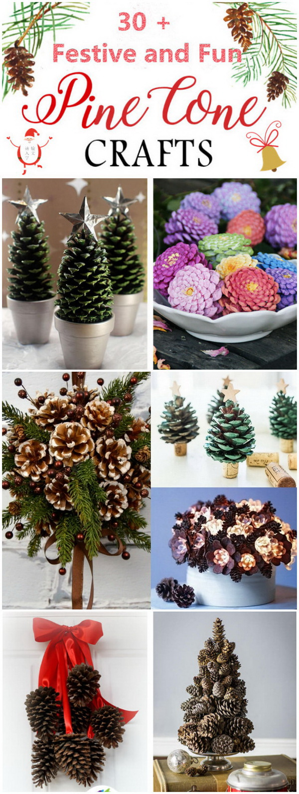 pine cone ideas crafts 30 festive and pine cone crafts listing more 5165