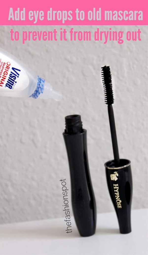 Prevent Mascara From Drying Out Using Eyedrops.