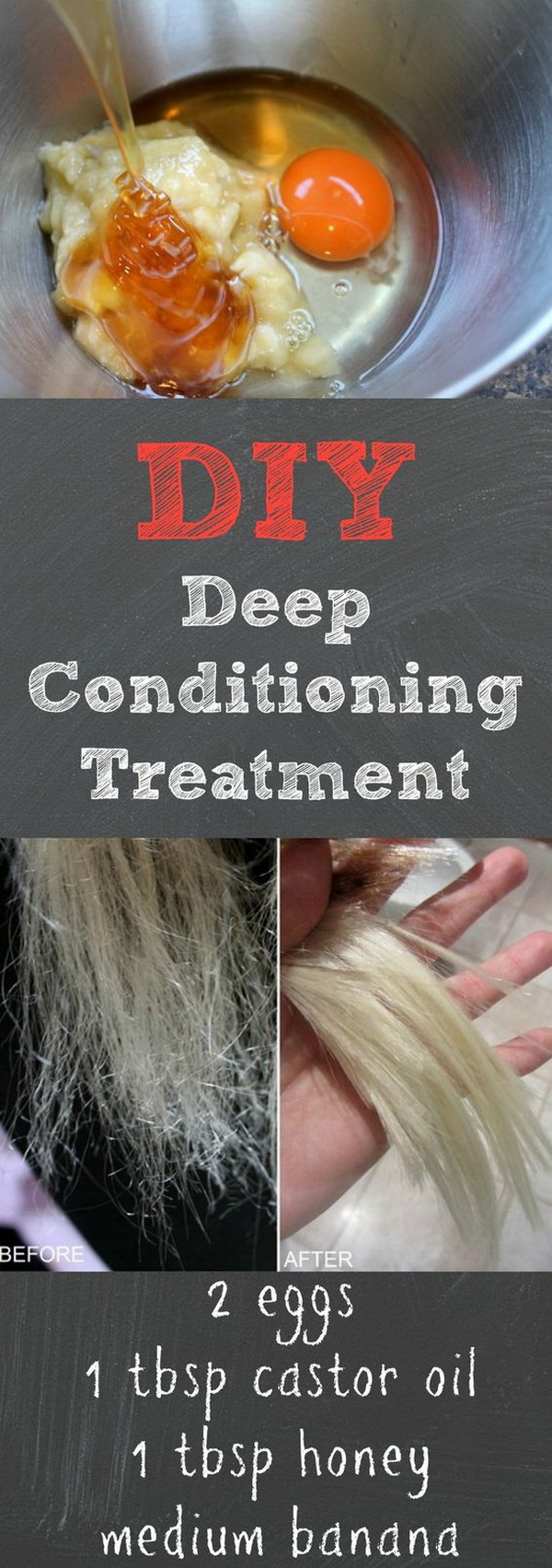DIY Deep Conditioning Treatment With Egg And Castor Oil.