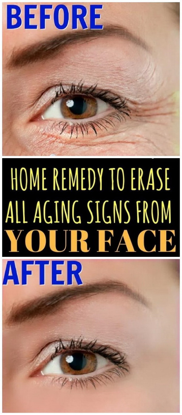 Home Remedy To Erase All Aging Signs From Your Face.
