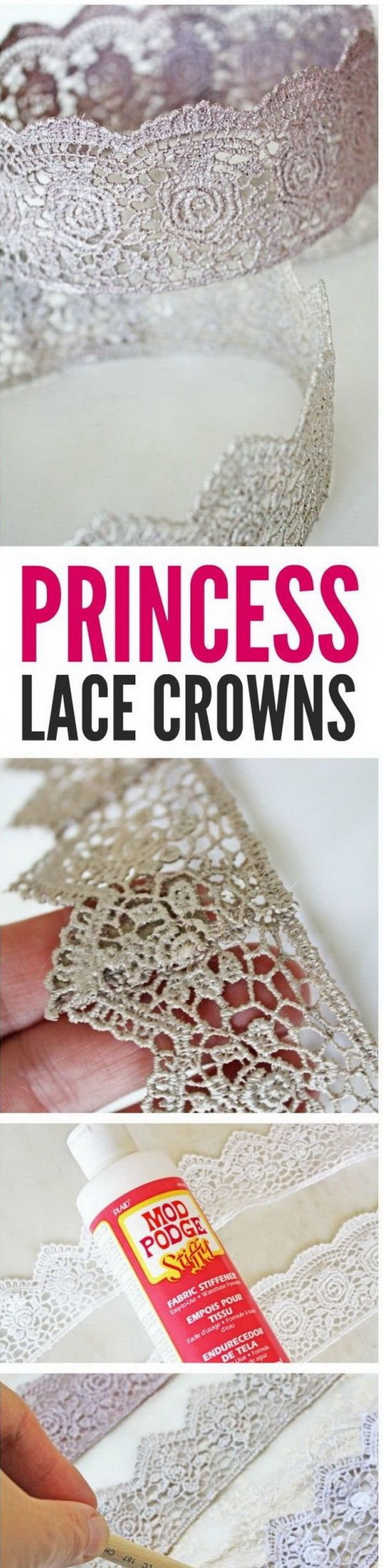 DIY Princess Lace Crown.