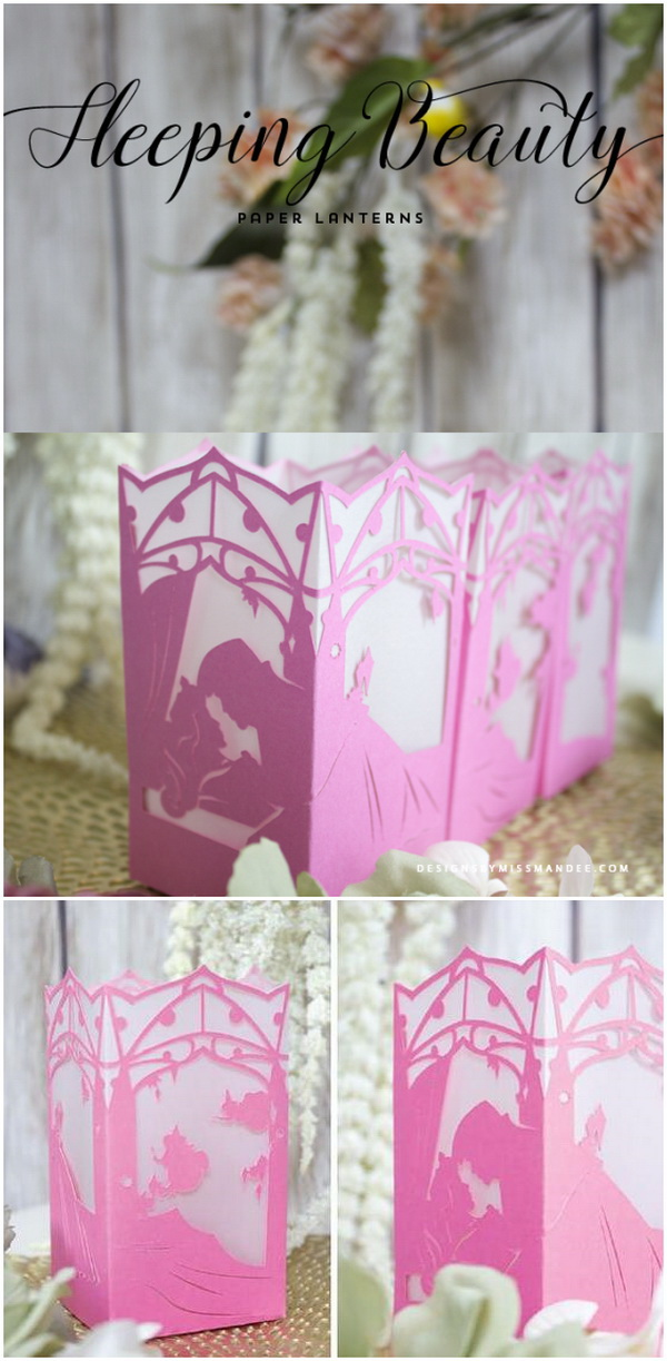 Sleeping Beauty Paper Lantern.
