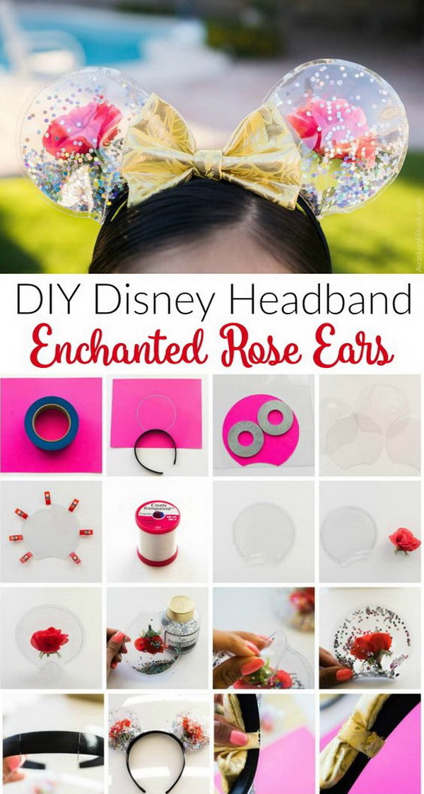DIY Mickey Ears: Enchanted Roses For Beauty And The Beast.