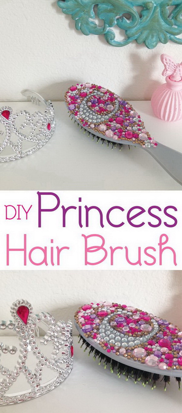 DIY Princess Hair Brush.