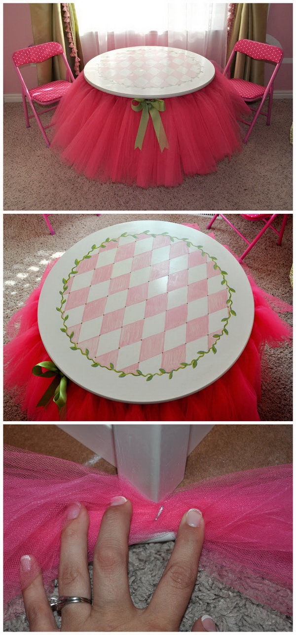 DIY No-Sew Tutu Skirt Table.