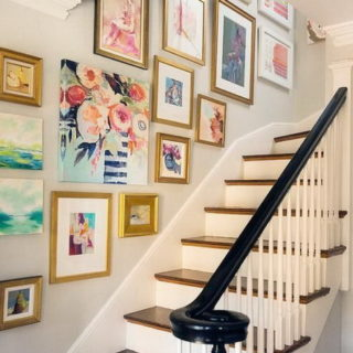 21+ Chic Staircase Wall Decoration Ideas