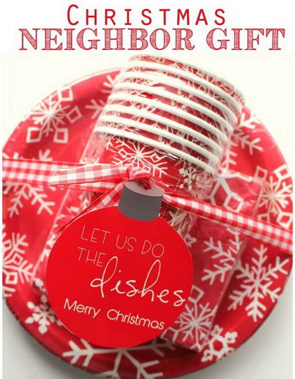 Christmas Neighbor Gift Ideas: Dishes Christmas Neighbor Gifts