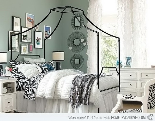 The Refined Zebra Bedroom.