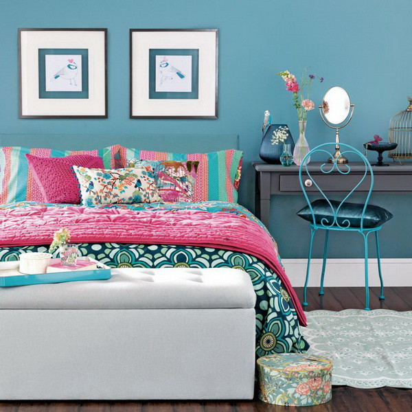 Use Bright Flower Sheets To Encourage Optimism.