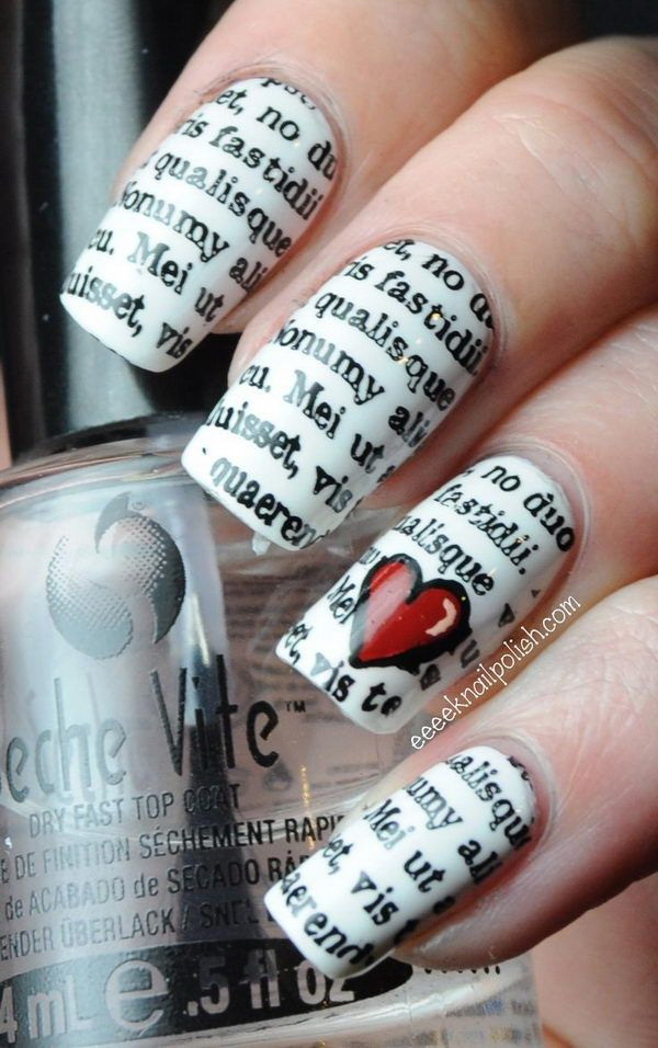 Romantic Valentine's Nail Art Designs.