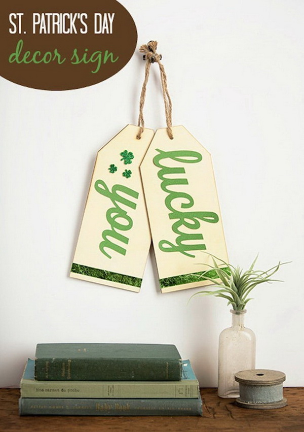 St. Patrick's Day DIY Decor Sign。
