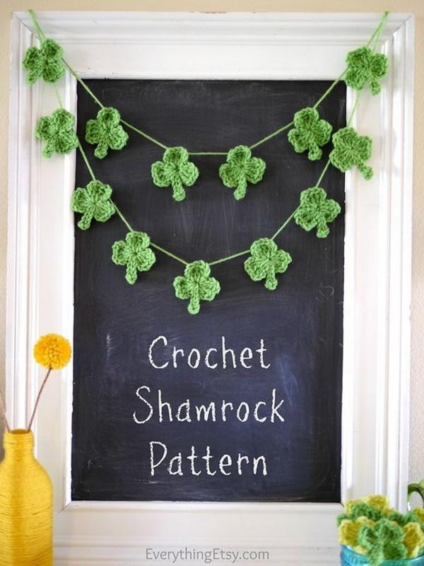 Simple Shamrock Crochet.