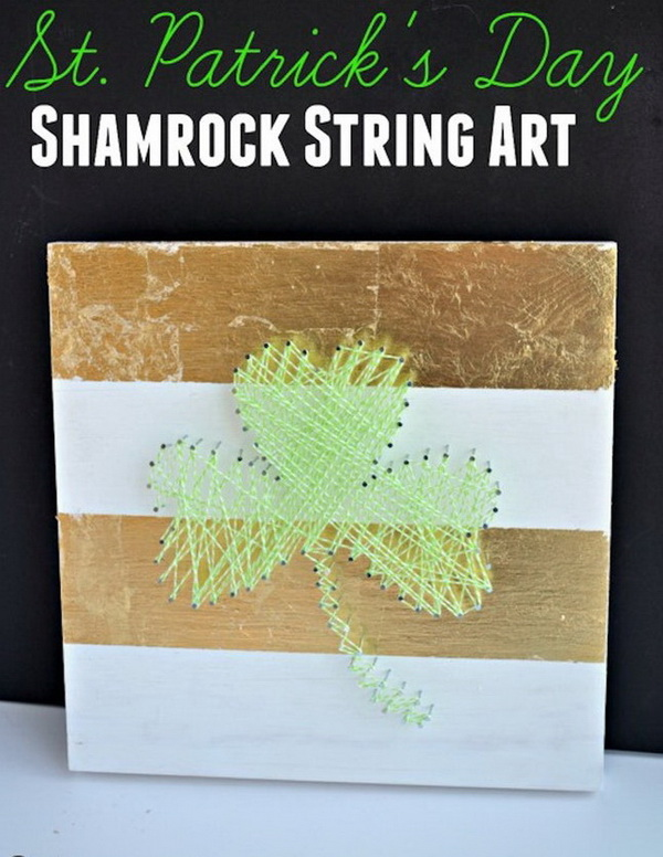 Shamrock String Art.