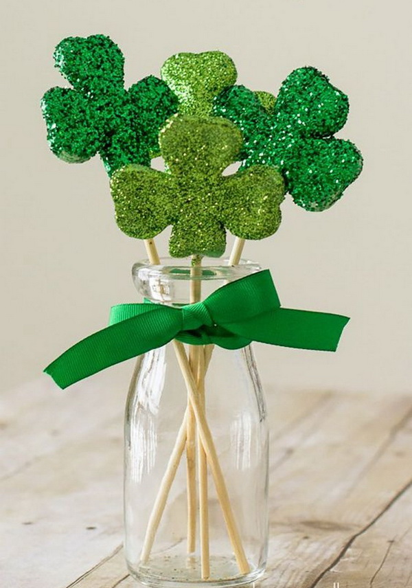 Shamrock Bouquet Made of Paper.