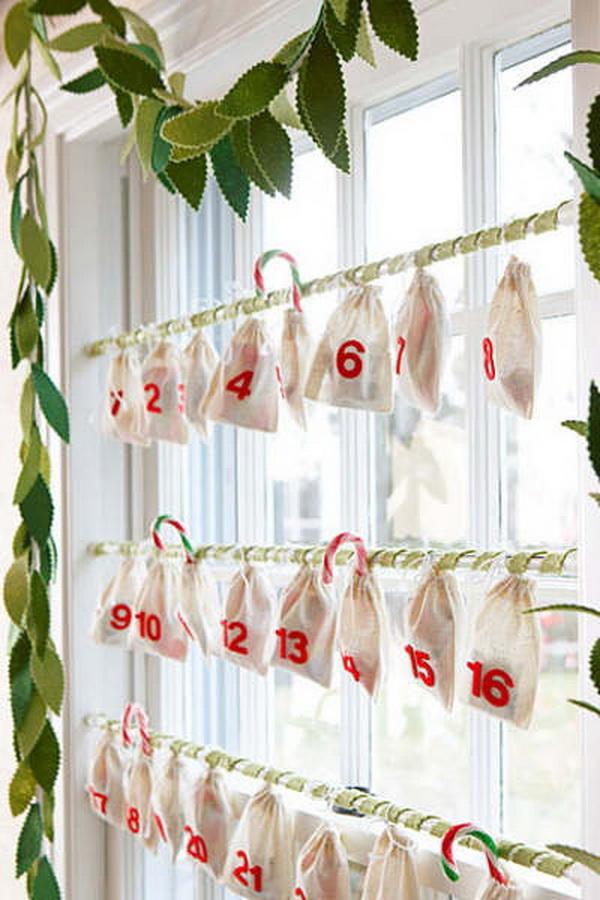 Felt Muslin Bags Advent Calendar.