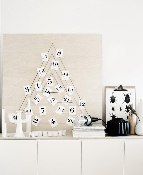 Modern DIY X-mas Calendar.