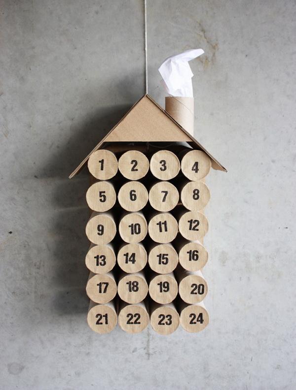 DIY Toilet Paper Roll Calendar.