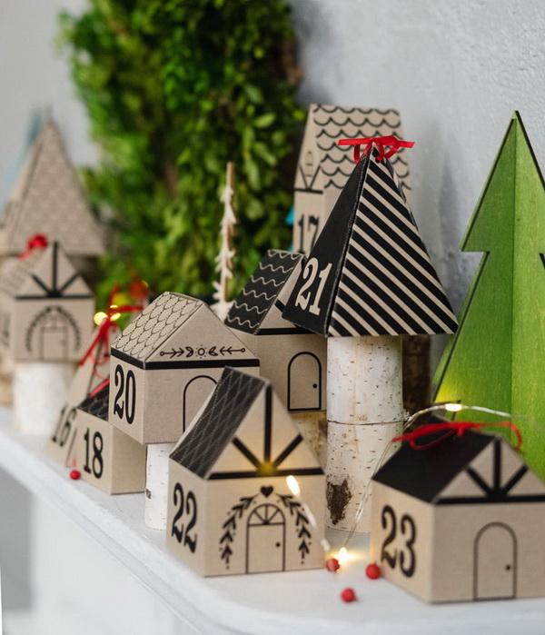 3D Paper Advent Calendar.
