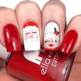 40+ Festive Christmas Nail Art Designs